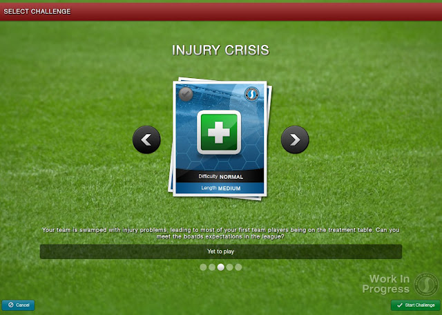 Football Manager 2013 New Feature - Select a challenge - Injury Crisis