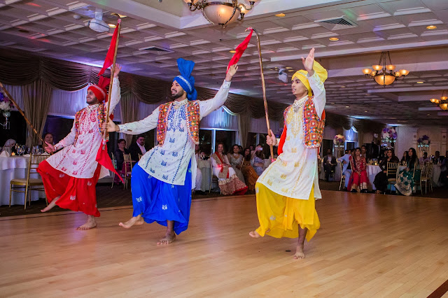 Colorful rich indian dance