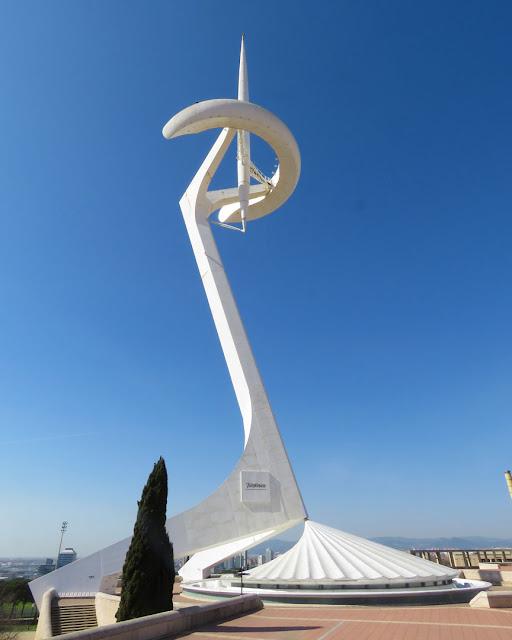 Montjuïc Communications Tower by Santiago Calatrava, Anella Olímpica (Olympic Ring), Passeig Olímpic, Montjuïc, Barcelona
