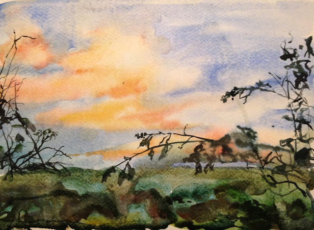 Monday, 1st January 2018 - First Sunset of the Year of the Dog