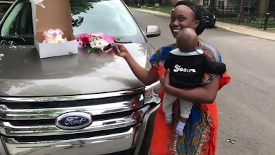 Nigerian man gifts his wife a brand new car for her 30th birthday