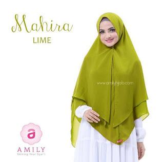 Hijab Amily Khimar Mahira Lime
