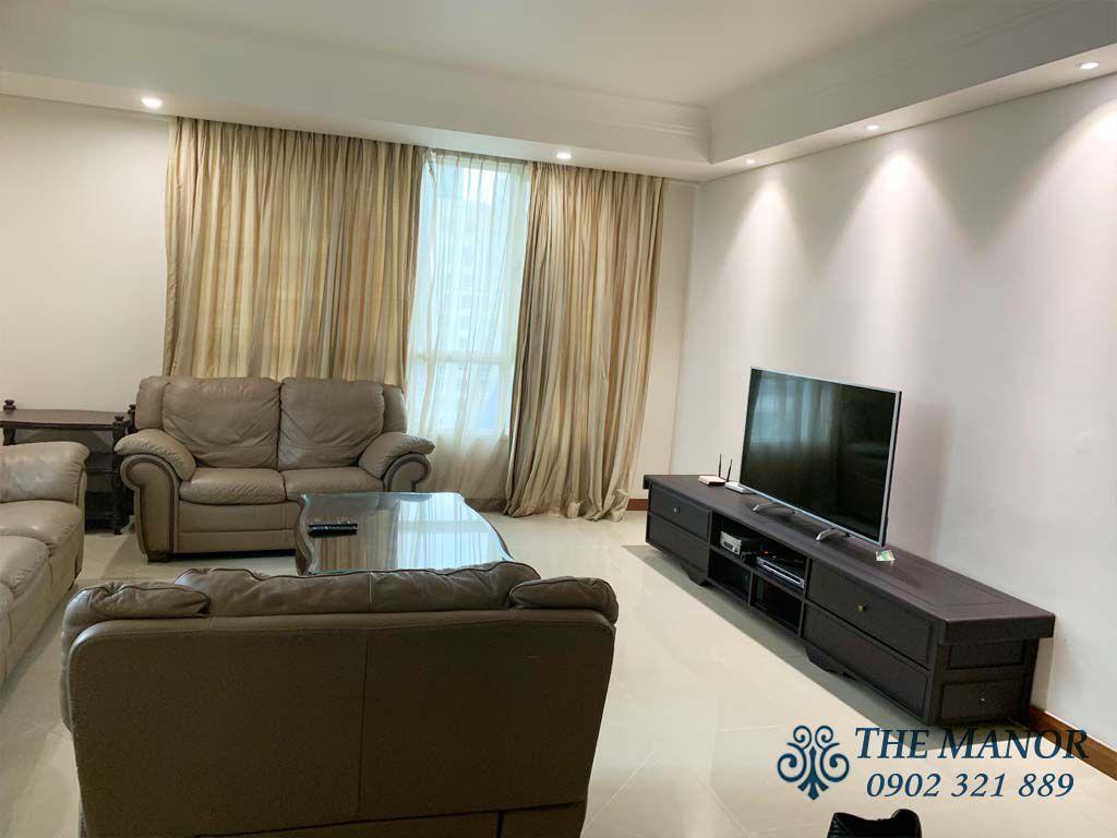 phòng khách căn hộ 167m2 the manor 1 cho thuê