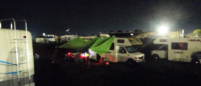 Bonnaroo Chris RV at Night