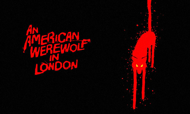 AN AMERICAN WEREWOLF IN LONDON (1981) von John Landis. Posterdetail. Quelle: Universal Pictures