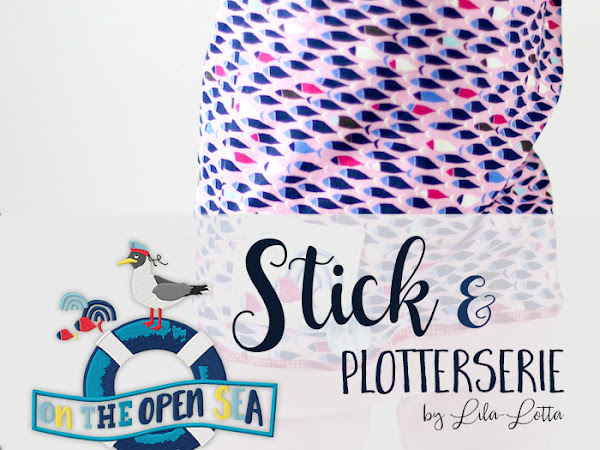 Stickserie und Plotterdateien  - on the open sea by Lila-Lotta / Huups!