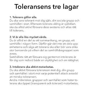 Toleransens tre lagar av GFN