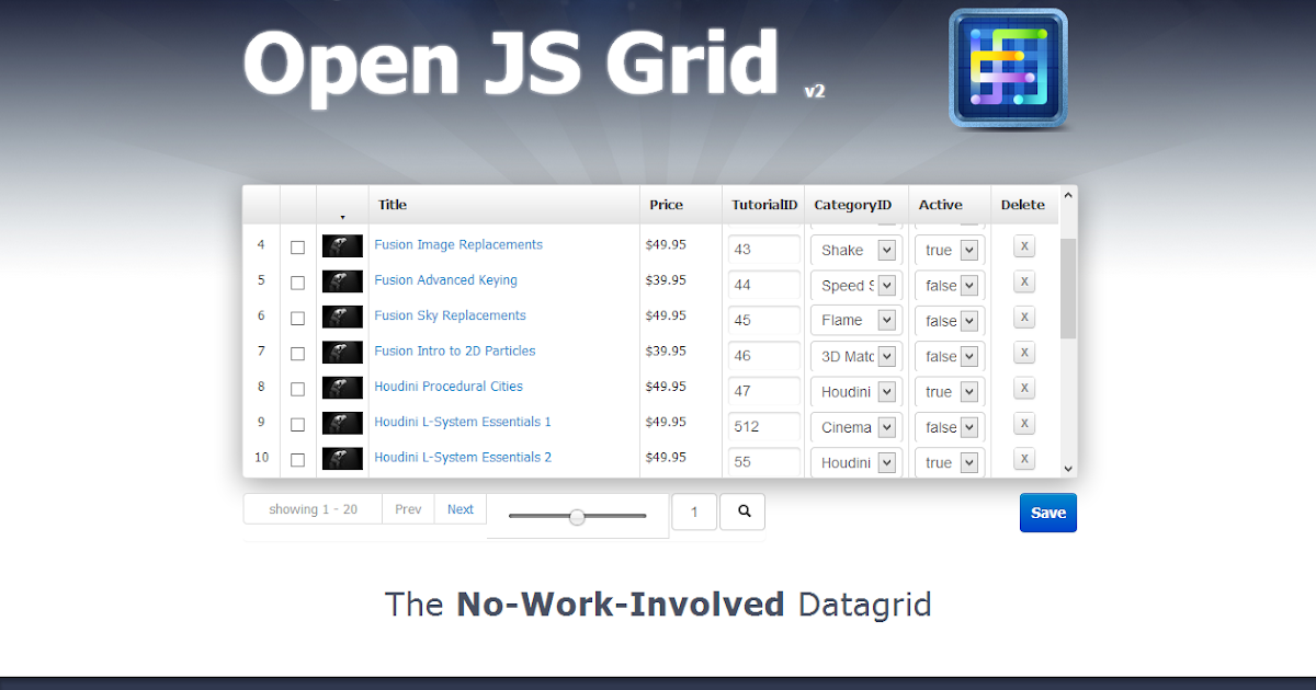 Jsgrid Example