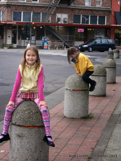Happy Children play downtown Bellingham