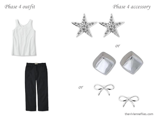 three pairs of small silver earrings to wear with a simple summer outfit