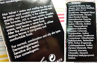 etiqueta ingredientes maquillaje
