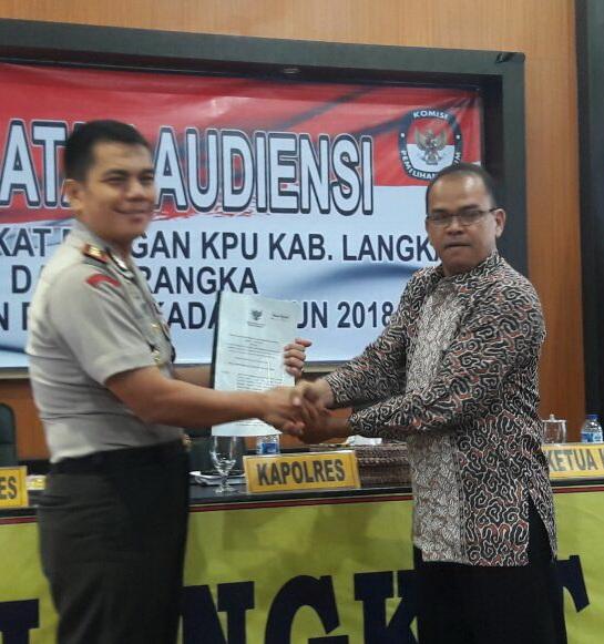 Polres Langkat & KPU Bahas Persiapan Pengamanan Pilkada 2018