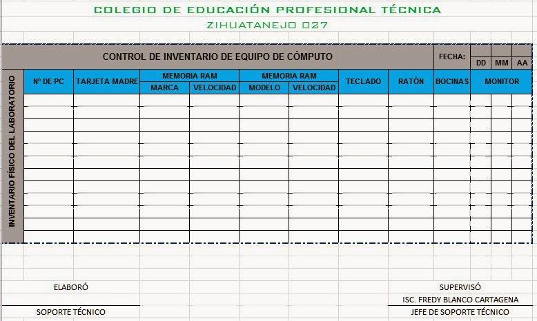 Manejo de Aplicaciones por Medios Digitales MADI-U1- RA-11-Excel - formato inventario en excel