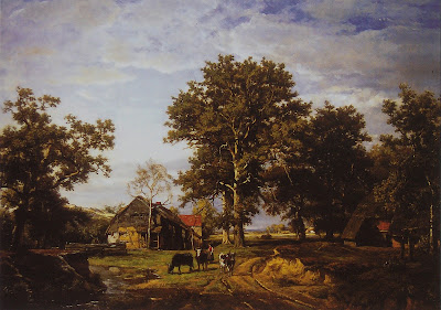 Landscape with Farm, Theodore Fourmois