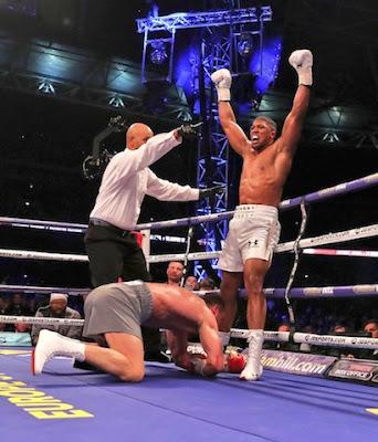 Joshua knocks out Klitschco in 11th round