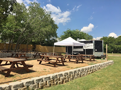 Heim Barbecue sits outside of Republic Street Bar