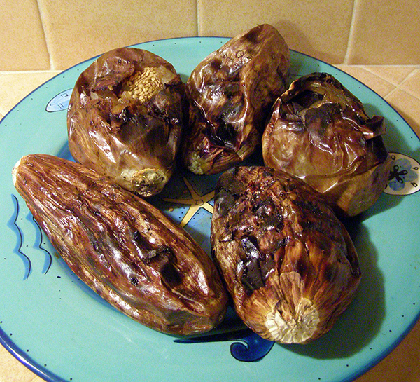 Ugly looking grilled eggplant