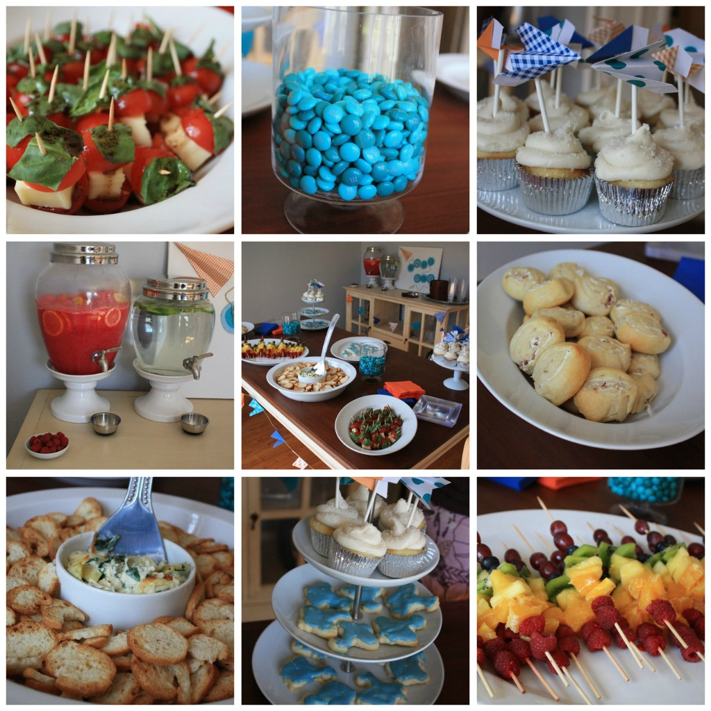 Boy Baby Shower Snack Ideas: The Rustic Sophisticate: Ashley's Airplane Baby Boy Shower