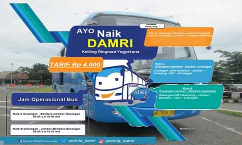 Info Damri Jogja: harga tiket damri bandara