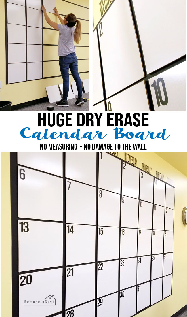 how to make a big dry erase board for under $60