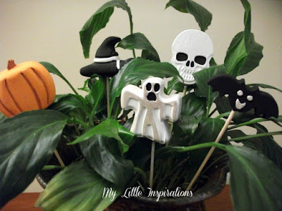 Decorazioni in gesso per Halloween - insieme - My Little Inspirations