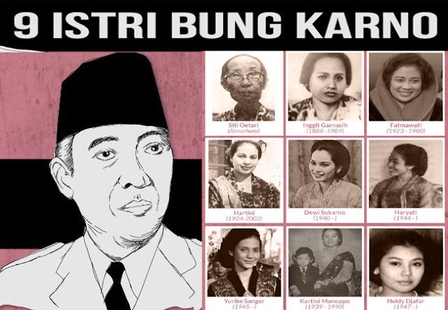 Pesan Mendalam Sukarno dan Kisah Para Istrinya