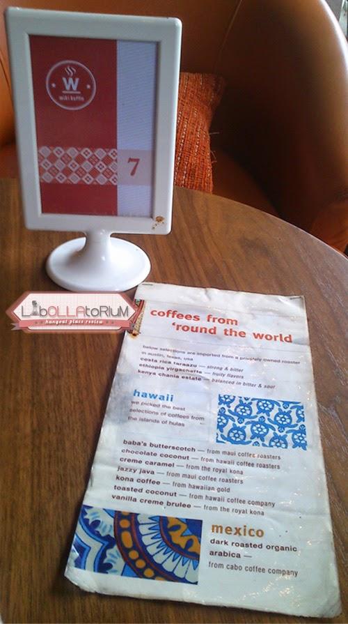 Wiki Koffie Menu