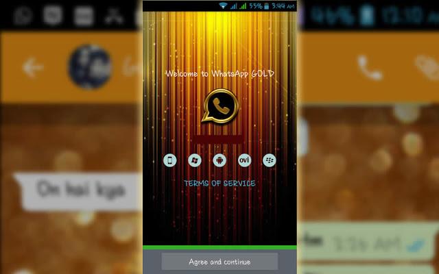 تطبيق واتس أب جولد الذهبى للموبايل