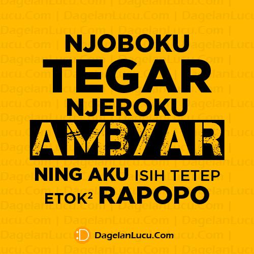 Kata Kata Ambyar Bahasa Jawa