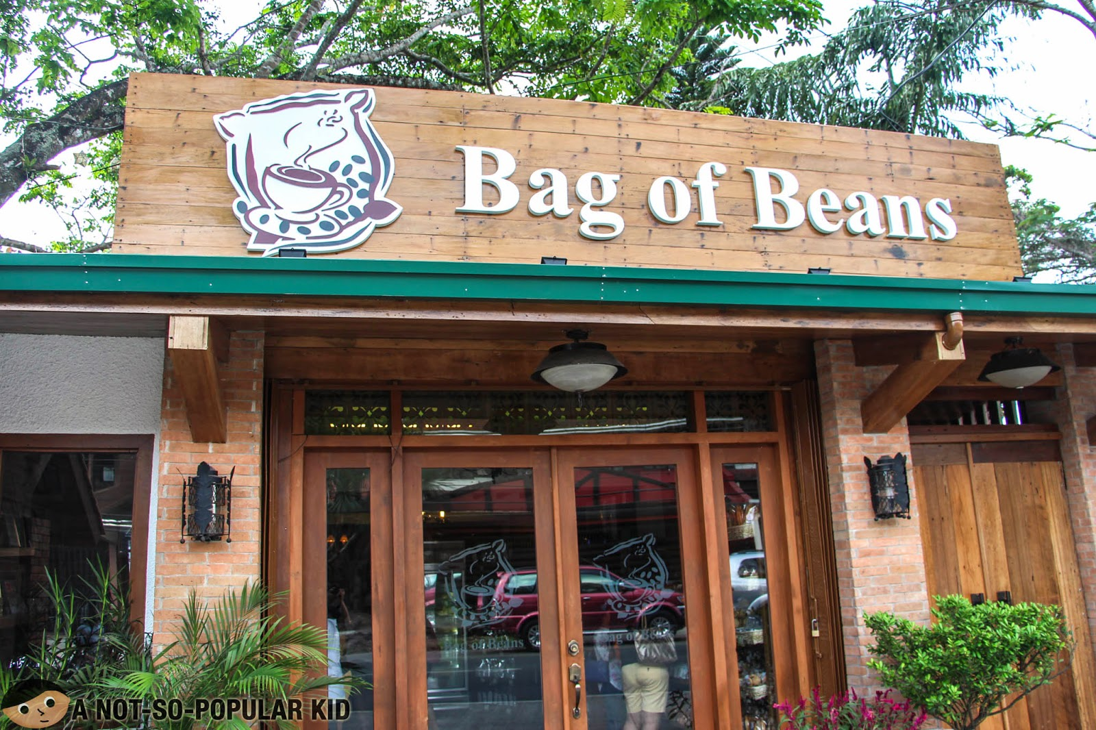 The facade of Bag of Beans in Tagaytay City