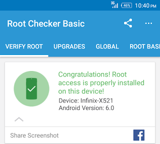 root checker infinix hot s rooted