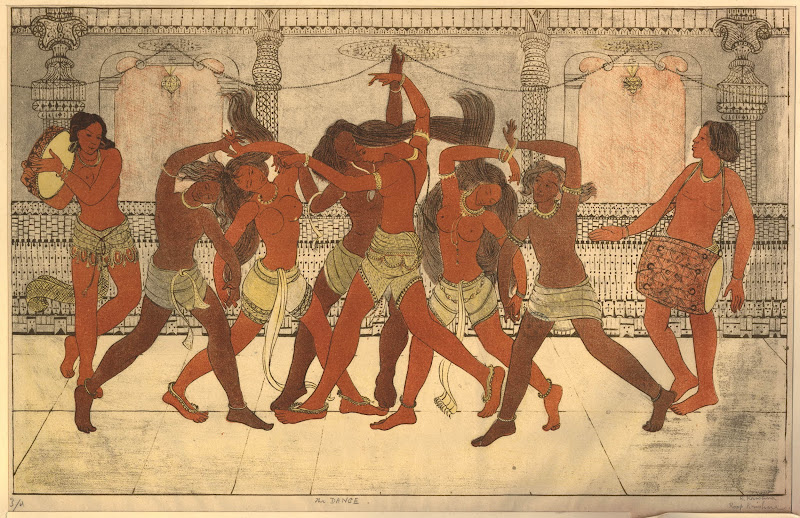 The Dance - Lithograph by Roop Krishna 1933