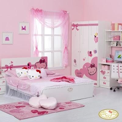 Kamar Tidur Set Hello Kitty