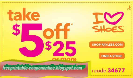 Payless shoes birthday printable coupons