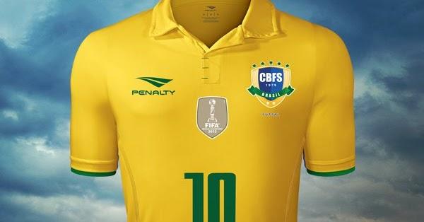3565c56e6fec2 Penalty divulga novas camisas da Seleção Brasileira de futsal - Testando  Novo Site