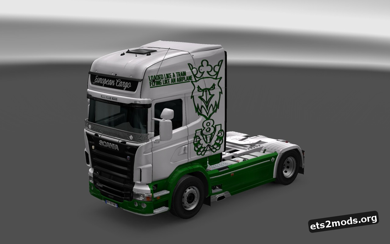 Green Griffin V8 Skin for Scania RJL