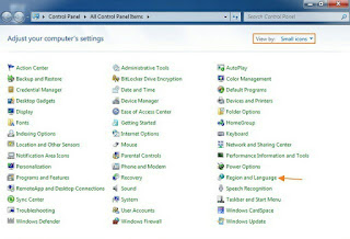 Cara Merubah Bahasa Operating System windows 7