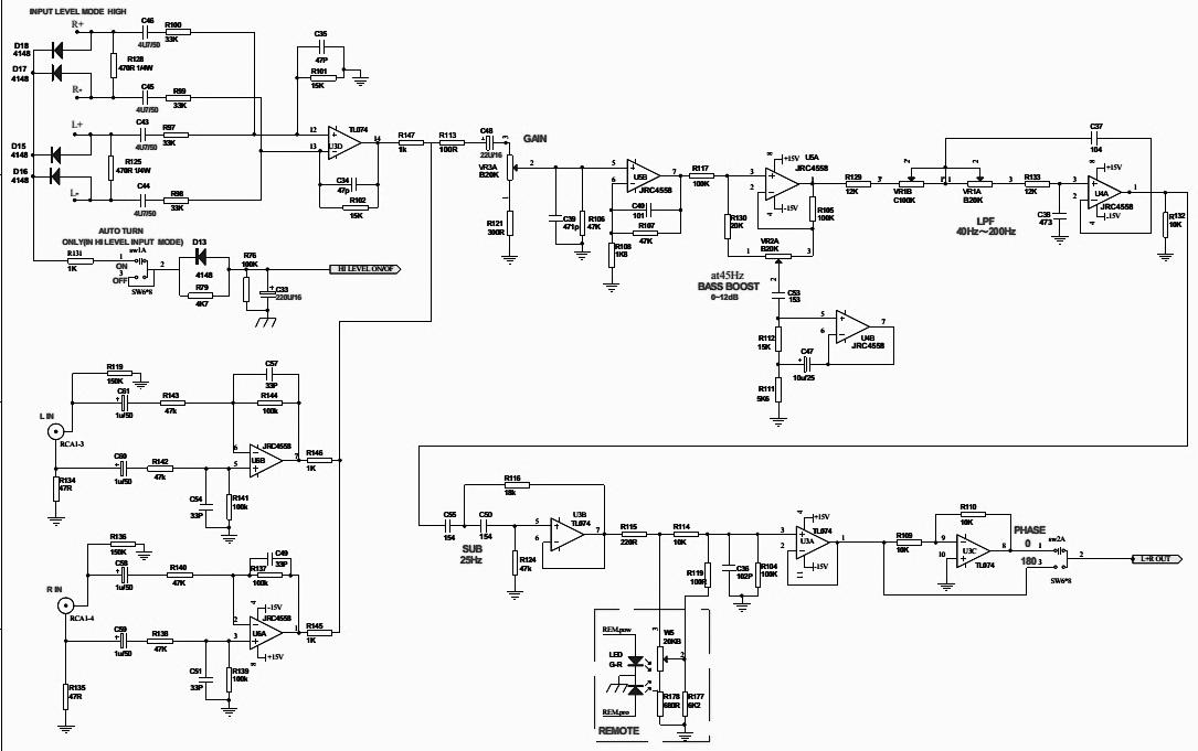 schematics - power, pre-amp & power amp