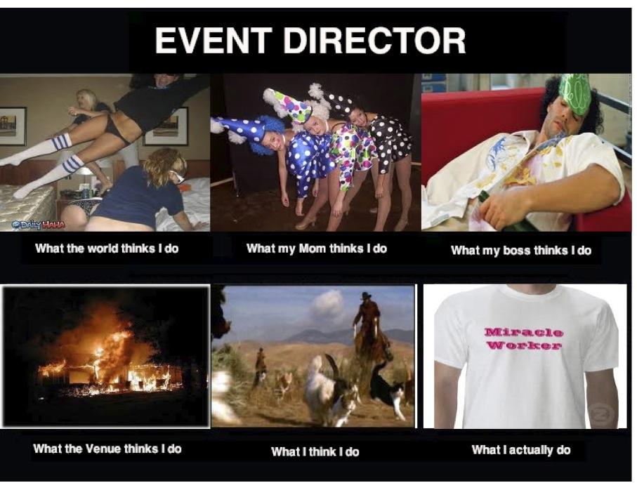 Teri Bayus Writing And Creating Event Director Meme