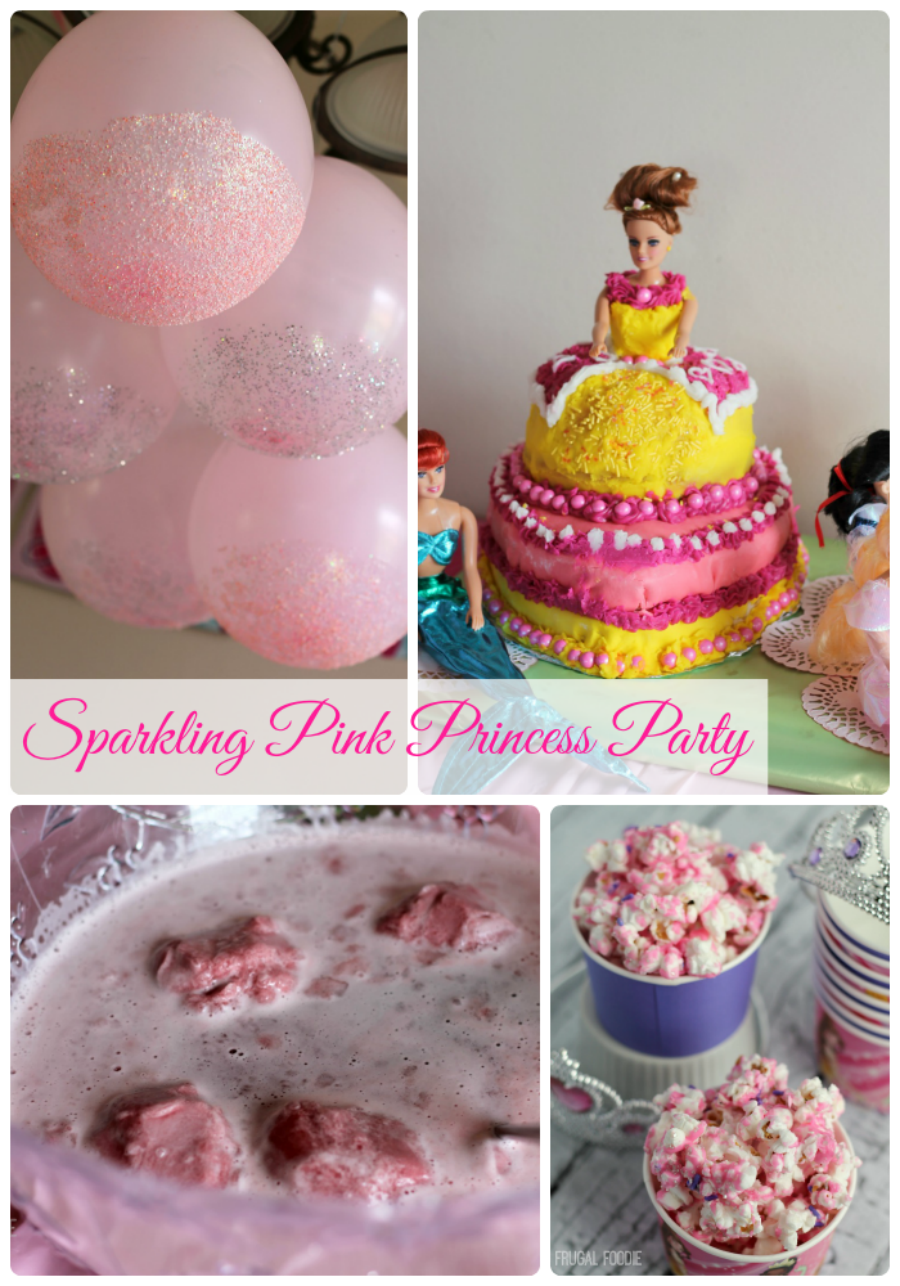 Sparkling Pink Princess Party- from easy princess perfect recipes & simple decorating ideas to cake inspiration