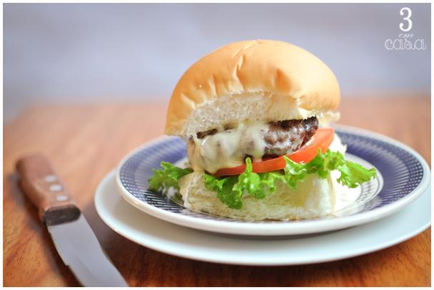 hambúrguer caseiro fácil