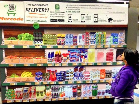 mercode+app Supermercado digital no metrô de São Paulo