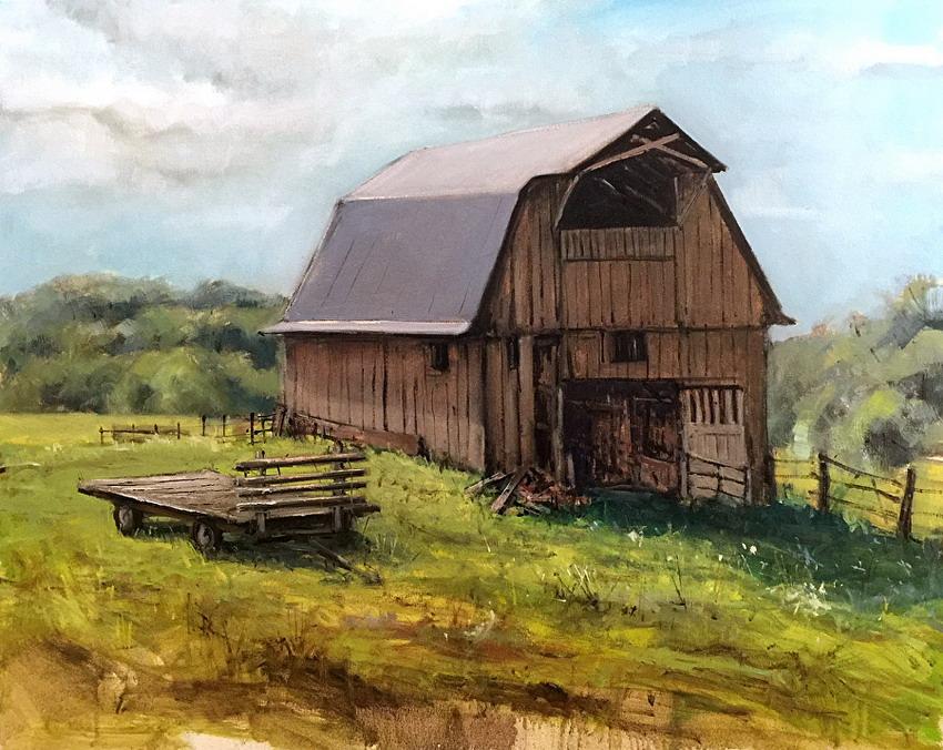 Cuadros modernos pinturas y dibujos casas de campos en madera pinturas bill guffey - Casa rural madera y sal ...