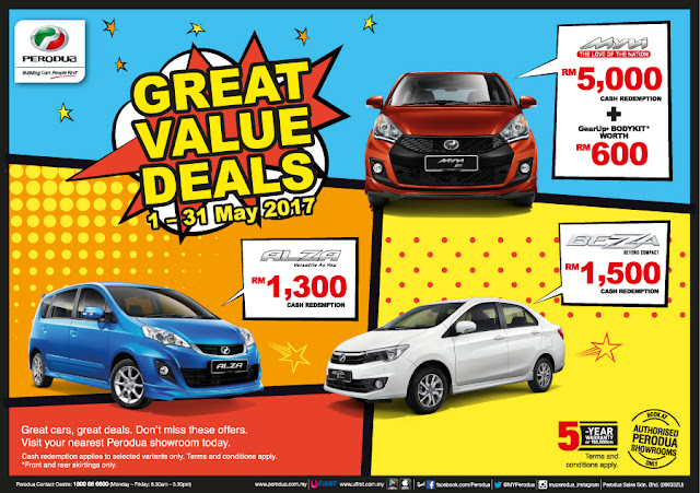 Promosi Perodua Bulan May 2017- Great Value deals