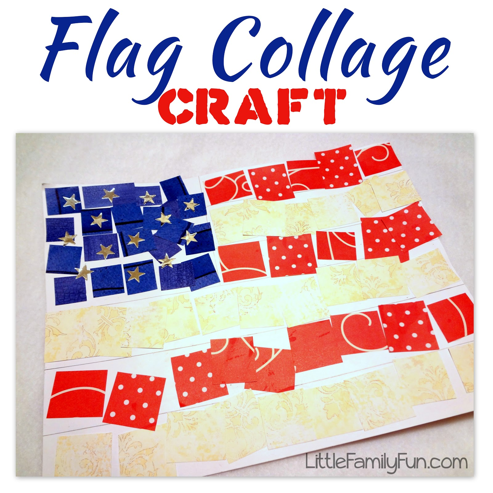 American Flag Collage Craft