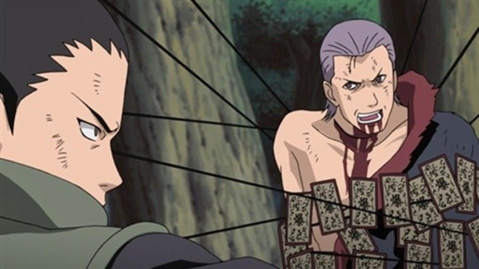 Shikamaru atrapa a Hidan