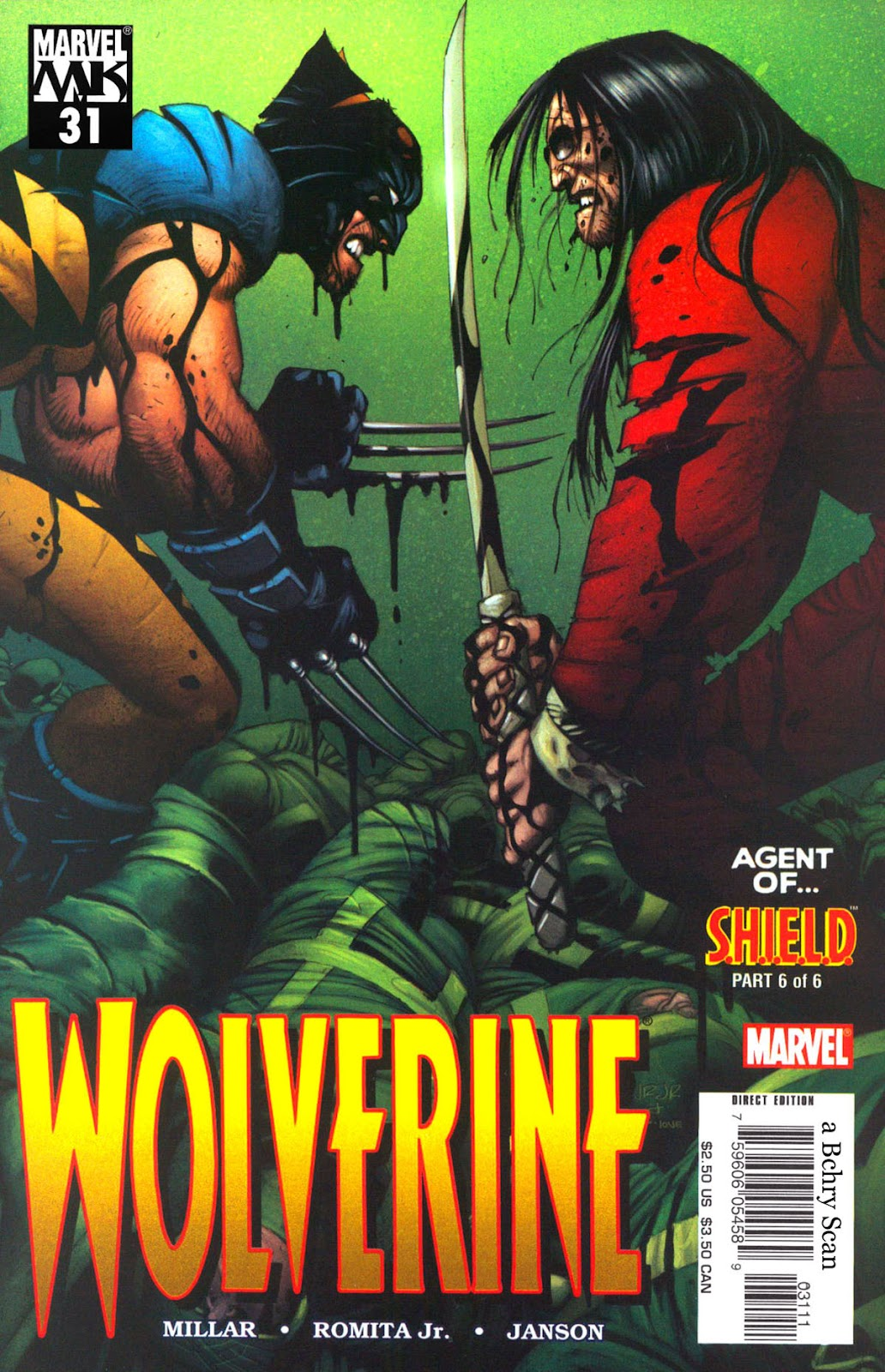 Read online Wolverine (2003) comic -  Issue #31 - 1