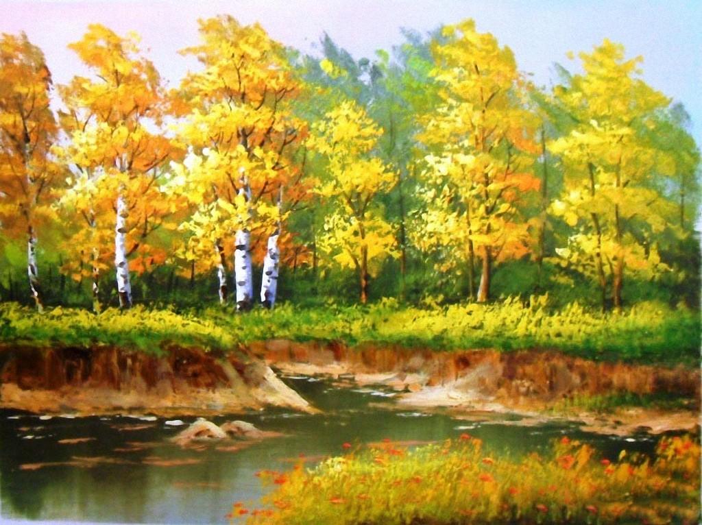 lukisan pemandangan alam yang mudah di gambar  Koleksi
