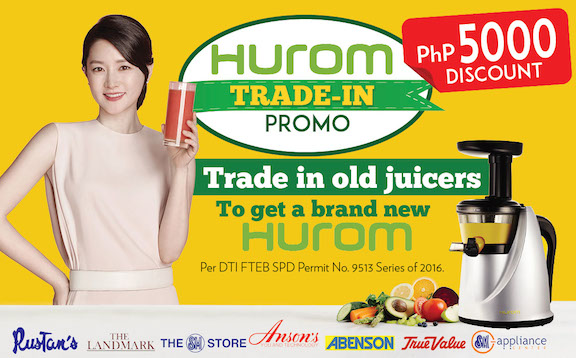 Hurom Slow Juicer HA series Trade-In Promo