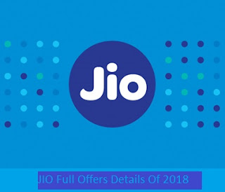 JIO full offer details of 2018 india